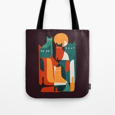 Cat Family Tote Bag
