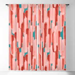 Live In Coral #society6 #abstractart Blackout Curtain