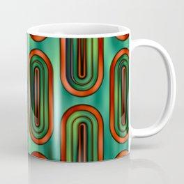 Pattern Retro Style green and orange Coffee Mug