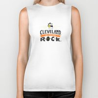 cleveland Biker Tanks featuring Cleveland Rocks by Alex McClelland