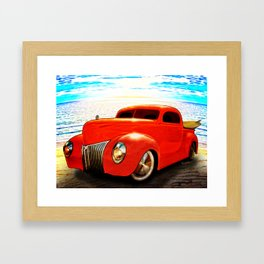 Surfin Forty Ford Pickup Framed Art Print