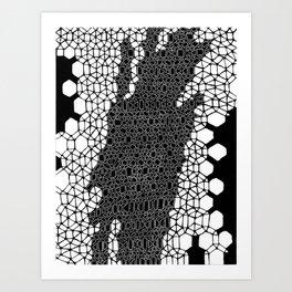 Honeycomb 4 Art Print