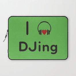 I heart DJing Laptop Sleeve