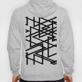 Interlocking Black Triangles Artistic Design Hoody