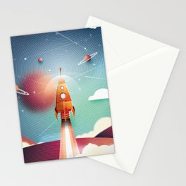 Colour Rocket Stationery Cards