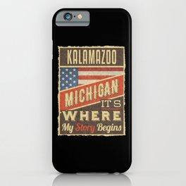 Kalamazoo Michigan iPhone Case