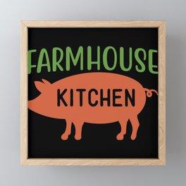 Farmhouse Kitchen Piggy Farm Framed Mini Art Print