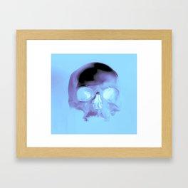 Cyan Skull Framed Art Print