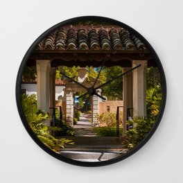 Courtyard Hooker Hall and Lyman Hall Rollins College Winter Park Central Florida Orlando Wall Clock