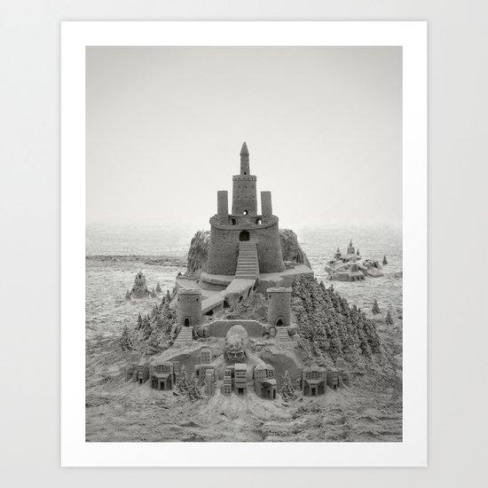 Sand Castle Kingdom Art Print
