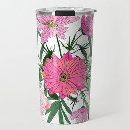 Boho chic garden floral design Travel Mug