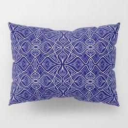 Dark Intricacy Persian Rug Magic Carpet Midnight Blue Indian Pattern Spirit Organic Pillow Sham