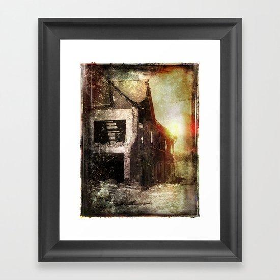 False Sunrise Framed Art Print
