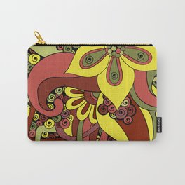 Colorful Floral Ornaments Carry-All Pouch