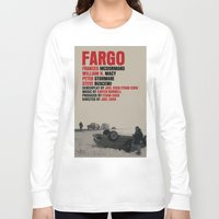 fargo Long Sleeve T-shirts featuring Fargo Movie Poster  by FunnyFaceArt