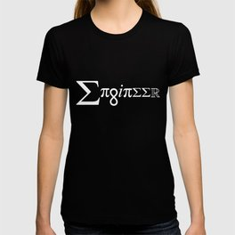 Engineer Spelled Out In Equation Symbols T-shirt