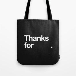 (NOTHING) Tote Bag