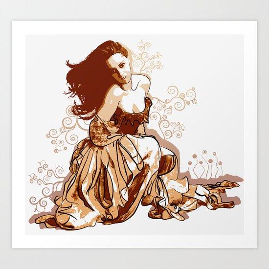 Princess In Rags Art Print