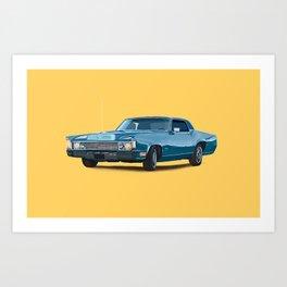 Vintage car solid colour Art Print