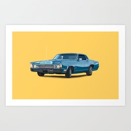 Vintage car solid colour Art Print
