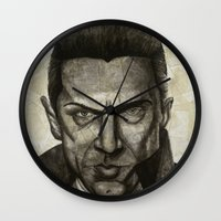 dracula Wall Clocks featuring Dracula by Colunga-Art