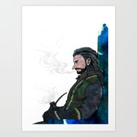 thorin Art Prints featuring Thorin by NON6