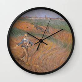 The sower - after van Gogh Wall Clock