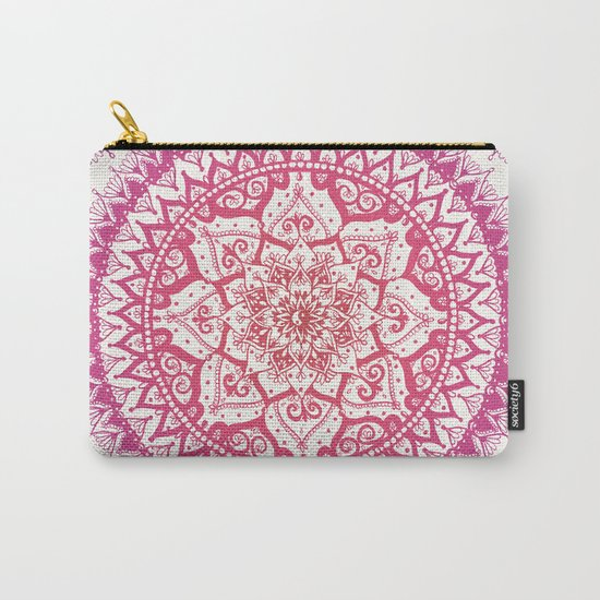 Yin Yang Mandala in Tropical Sunset Carry-All Pouch