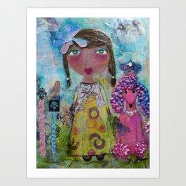 Phoebe & Poof - Whimsies of Light Children Series Art Print