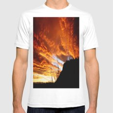 Fire In The Sky Mens Fitted Tee White MEDIUM