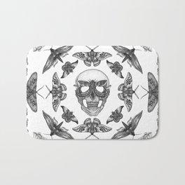 Moth Skull Pattern Bath Mat