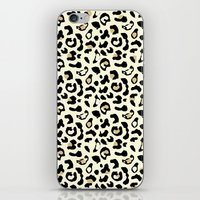 leopard iPhone & iPod Skins featuring Leopard by Laura Maria Designs