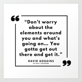 48     | David Goggins Quotes | 190901 Art Print