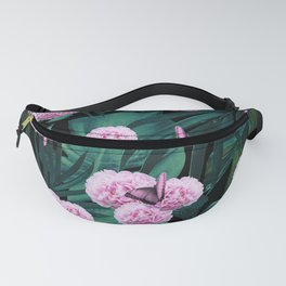 Tropical Peonies Dream #1 #floral #foliage #decor #art #society6 Fanny Pack