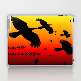 Happy Halloween Murder of Crows  Laptop & iPad Skin