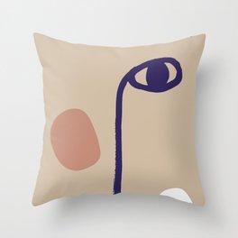 Half Face Throw Pillow