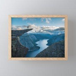 Trolltunga, Norway Framed Mini Art Print