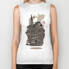 Flying city. Biker Tank
