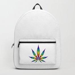 Cannabis Rainbow Leaf Backpack