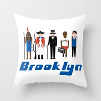 brooklyn Throw Pillows featuring Brooklyn  by harlembrooklyn