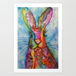 Trudy the Hare Art Print