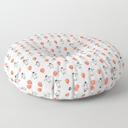 Penguin Balloons Pattern Floor Pillow