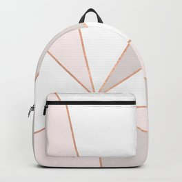 GEO SUNBURST ROSEGOLD PASTEL Backpack