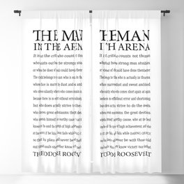 The Man in the Arena, Daring Greatly Quote by Theodore Roosevelt Blackout Curtain