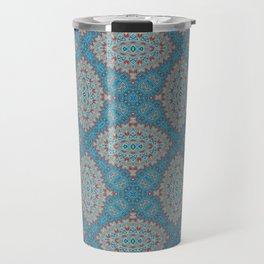 Tribal Tile Blue Travel Mug