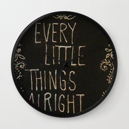 Chalkboard Art Wall Clock