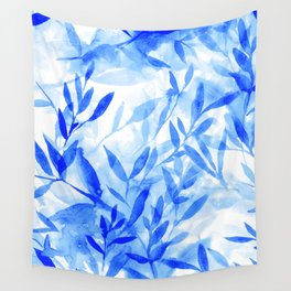 Changes Blue Wall Tapestry