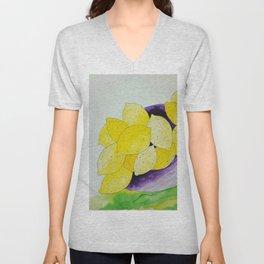 Lemon Bowl Unisex V-Neck