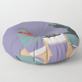 cacti colorblock Floor Pillow