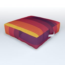 Sunset Squares Outdoor Floor Cushion
